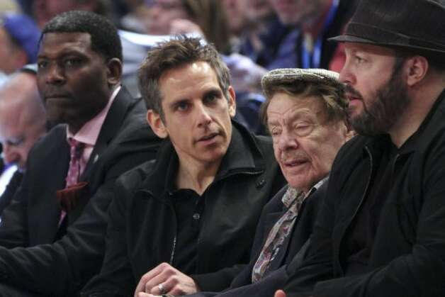 Actor Ben Stiller, center, shown with his old man, Jerry Stiller, is 47.