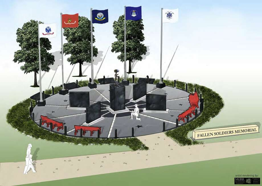 A rendering of the Fallen Warriors Memorial, which will honor those killed serving in U.S. military operations in Iraq and Afghanistan. Photo: Handout