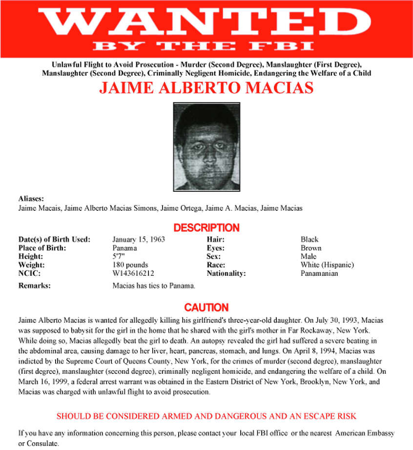 """America's Most Wanted"" recently filmed a segment featuring fugitive Jamie Alberto Macias. Photo: FBI / Federal Bureau of Investigation"