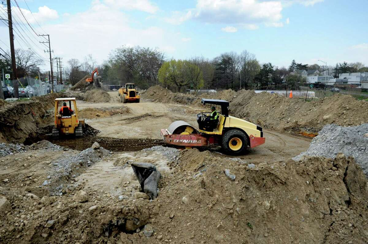 The site of the new Norwalk Fire Station and ECOC on April 10, 2012.