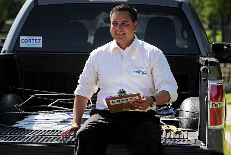 Philip Cortez takes to the neighborhoods on the west side of San Antonio campaigning for the Texas House seat in District 117  on April 5, 2012. Photo: Tom Reel, San Antonio Express-News / San Antonio Express-News
