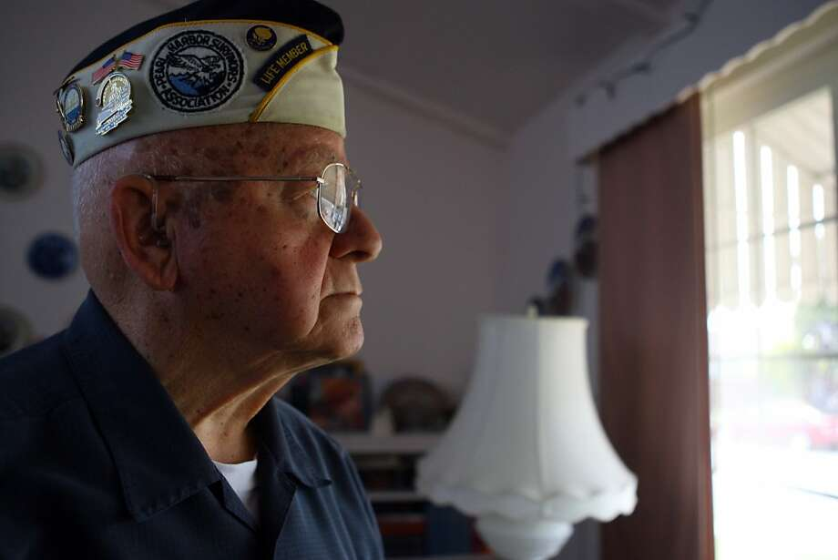 Mickey Ganitch, 92, is a Pearl Harbor survivor and WWII Veteran. Ganitch's truck was broken into April 4, while attending a dinner in San Leandro and most of his WWII memorabilia he used for giving history presentations at local schools was stolen. Ganitch has invested thousands of hours in community service and teaching the youth. Photo: Erik Verduzco, The Chronicle