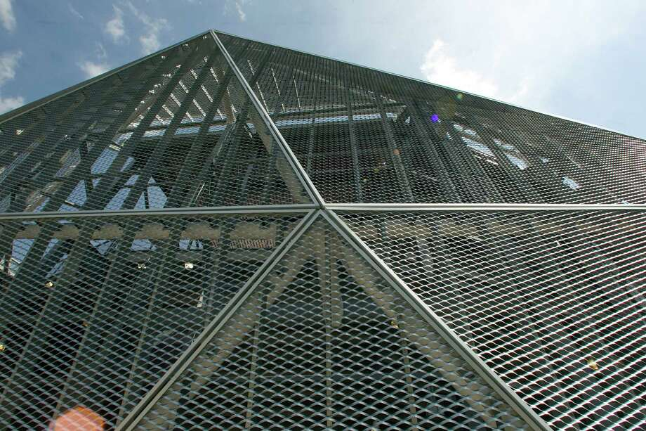 The metal exterior of the BBVA Compass Stadium. Photo: James Nielsen, Chronicle / © 2012 Houston Chronicle