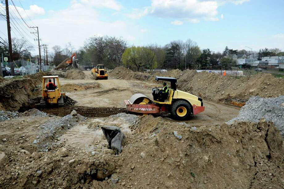 The site of the new Norwalk Fire Station and ECOC on April 10, 2012. Photo: Lindsay Niegelberg / Stamford Advocate