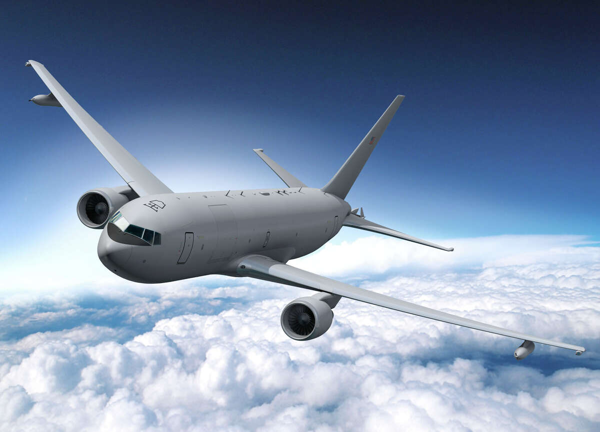 An artist's depiction of the planned Boeing KC-46A tanker, which is based on the 767 airliner and will replace the KC-135. Click on for more photos of KC-135s through the decades.