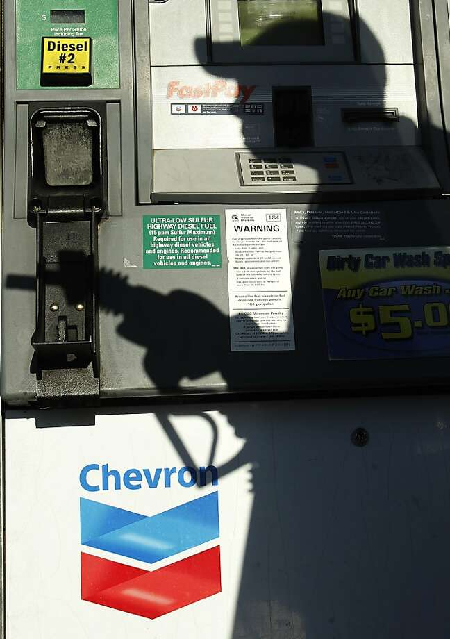 Higher gas prices are making a difference in raising Chevron's bottom line in the first quarter. Photo: Ross D. Franklin, Associated Press