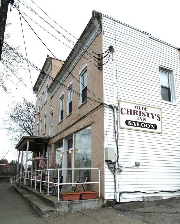 The Old Christy's Inn, 1302 Lower Broadway, in Schenectady, N.Y. April 9, 2012.  A retired city police officer is poised to take over the bar from his mother, who has been charged with stealing scratch off tickets from there. (Skip Dickstein / Times Union) Photo: SKIP DICKSTEIN / 00017145A