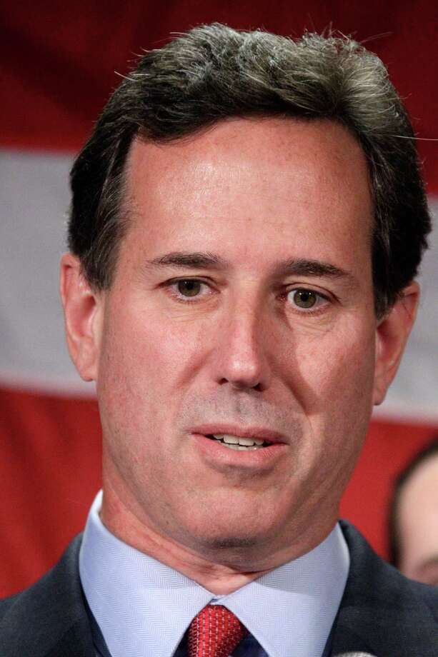 Former Pennsylvania Sen. Rick Santorum announces he is suspending his candidacy for the presidency effective today, Tuesday, April 10, 2012, in Gettysburg, Pa.  (AP Photo/Gene J. Puskar) Photo: Gene J. Puskar