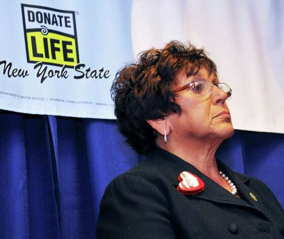 DMV Commissioner Barbara Fiala during an Organ Donor press event at the State Museum in Albany April 10, 2012.    (John Carl D'Annibale / Times Union) Photo: John Carl D'Annibale / 00017155A