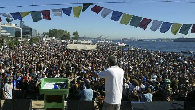 Roughly 300,000 people go each year to Hempfest at Myrtle Edwards Park on Seattle's Waterfront. (Grant M.Haller)