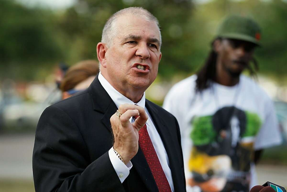 Hal Uhrig an attorney for George Zimmerman speak with the media about having lost contact with their client who is accused of killing Trayvon Martin on April 10, 2012 in Miami, Florida. Martin was killed by George Michael Zimmerman on February 26th while Zimmerman was on neighborhood watch patrol in the gated community of The Retreat at Twin Lakes, Florida.