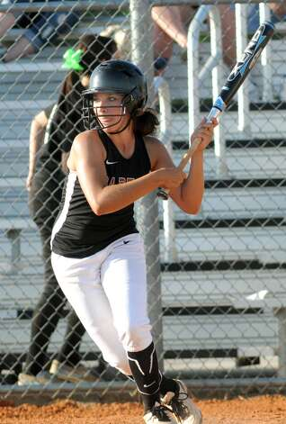 Porter's Mary Zellner works during an at-bat against Kingwood Park. Photo: Jerry Baker