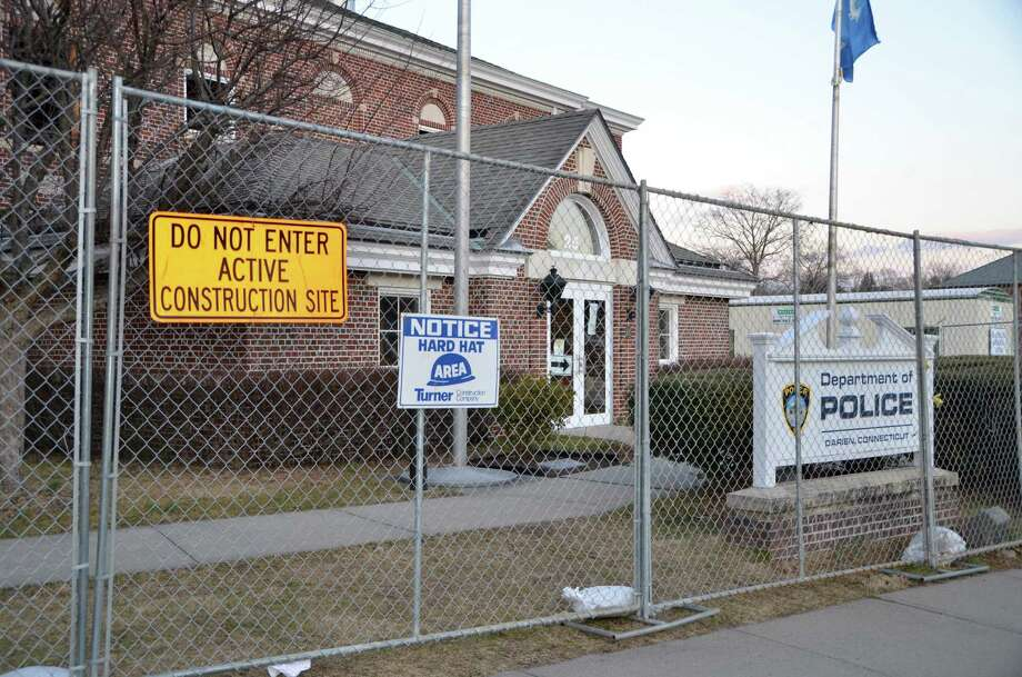 Construction on the new Darien Police Department is expected to be finished by July. Renovations on the old building have proceeded on schedule despite the discovery of more asbestos than originally anticipated. Photo: File Photo