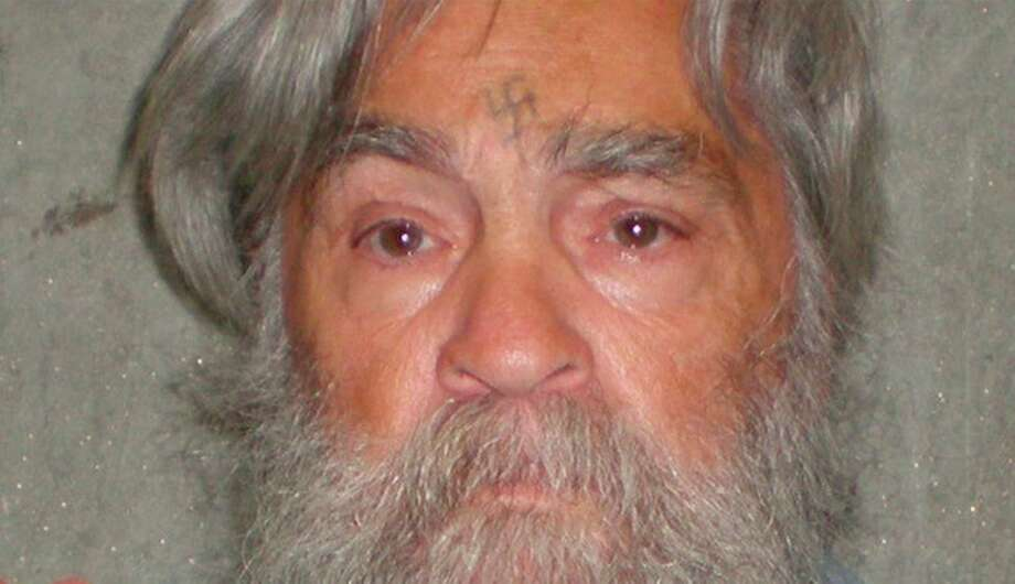 FILE - This April 4, 2012 file photo provided by the California Department of Corrections shows 77-year-old serial killer Charles Manson Wednesday, April 4, 2012. Manson will have an April 11, 2012 parole hearing in California. (AP Photos/California Department of Corrections, File) Photo: Anonymous, HOPD / Copyright 2012 The Associated Press. All rights reserved. This material may not be published, broadcast, rewritten or redistribu