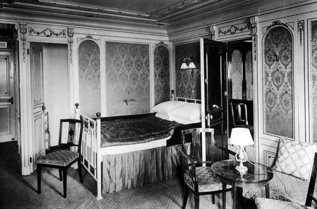 FILE -- First class accomodations aboard the RMS Titanic in an undated photo. The largest ship afloat at the time, the Titanic sank in the north Atlantic Ocean on April 15, 1912, after colliding with an iceberg during her maiden voyage from Southampton to New York City.  (The New York Times)