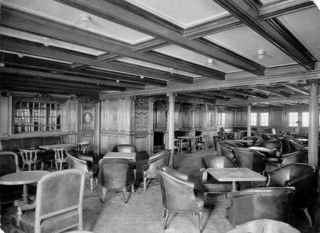 FILE -- A second class dining room aboard the RMS Titanic in an undated photo. The largest ship afloat at the time, the Titanic sank in the north Atlantic Ocean on April 15, 1912, after colliding with an iceberg during her maiden voyage from Southampton to New York City.  (The New York Times) Photo: THE NEW YORK TIMES, NYT / NYTNS