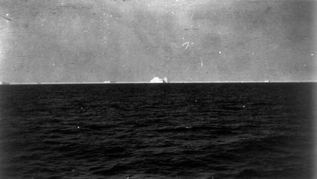 FILE -- An iceberg, presumed to be the one that was struck by the RMS Titanic, is pictured from the deck of the RMS Carpathia on April 15, 1912. The largest ship afloat at the time, the Titanic sank in the north Atlantic Ocean on April 15, 1912, after colliding with an iceberg during her maiden voyage from Southampton to New York City.  (The New York Times)  Photo: THE NEW YORK TIMES, NYT / NYTNS