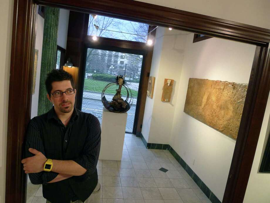 Albany Center Gallery Creative Director Tony Iadicicco in Albany N.Y., Thursday March 29, 2012. (Michael P. Farrell/Times Union) Photo: Michael P. Farrell / 00017001A