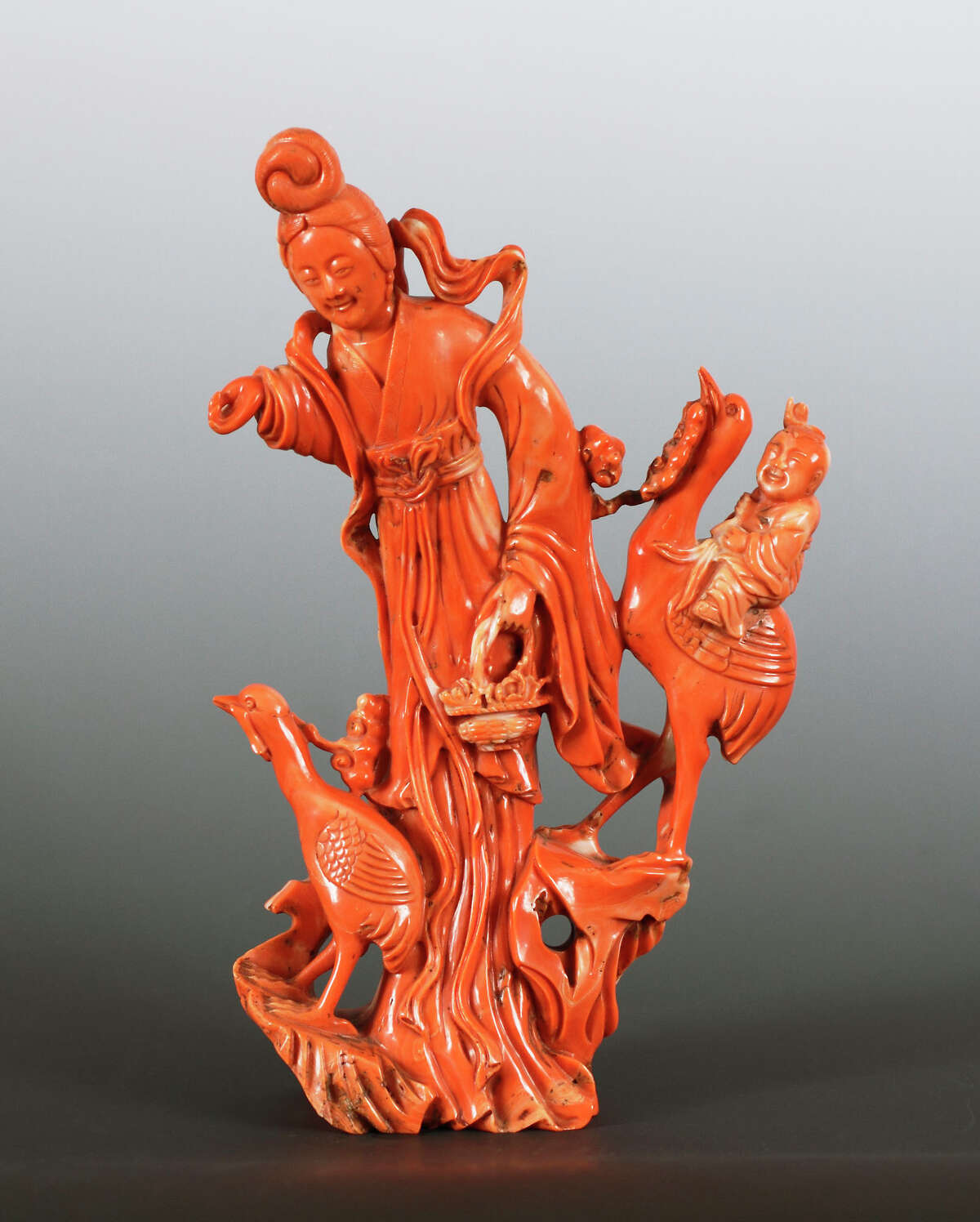 Coral Carving on Stand Chinese Qing Dynasty, probably 19th century Albany Institute of History & Art, gift of Mary Taylor Moulton Hanrahan, 1945.15.143