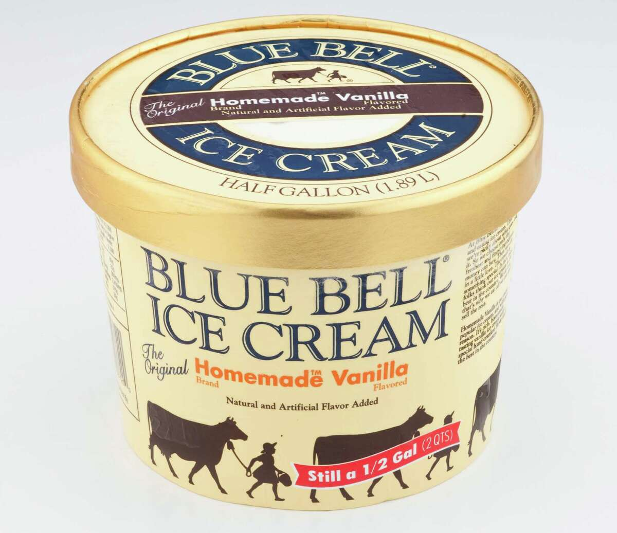 Blue Bell Ice Cream Home Made Vanilla. Photographed Tuesday, June 28, 2011, in the Chronicle studio in Houston.