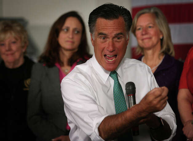 Republican presidential candidate Mitt Romney speaks to supporters during a campaign stop at AlphaGraphics at 915 Main Street in downtown Hartford on Wednesday, April 11, 2012. Photo: Brian A. Pounds / Connecticut Post