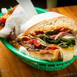 """The """"Sophie"""" sandwich at the Sandwich Place in San Francisco, Calif. is seen on April 5th, 2012."""