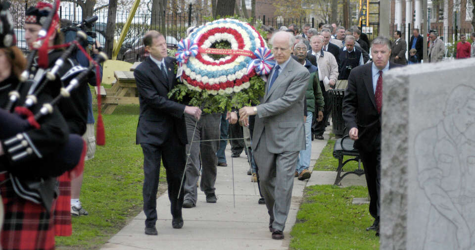 On April, 23, 2004, CT Attorney General Richard Blumenthal and Congressman Christopher Shays carry a
