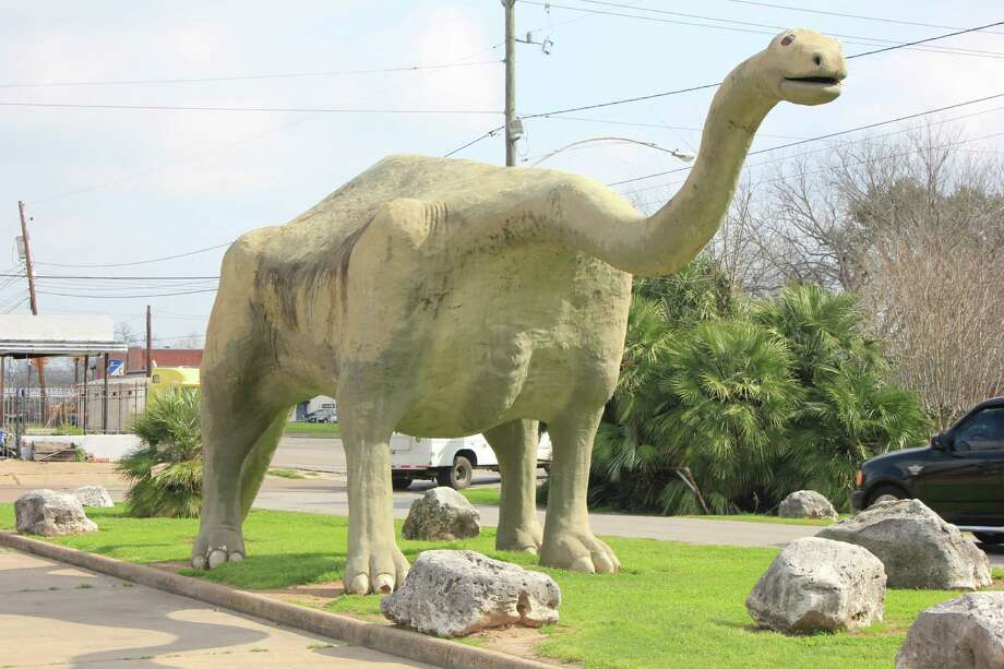 Dinosaur Park in Wharton is a fun place to stop on the way to Port Aransas. Photo: Kristin Finan