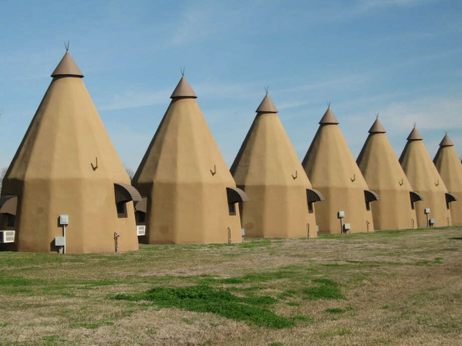 The Tee Pee Motel in Wharton was first built in 1942 and features 10 teepee-shaped rooms.>>Click to see Texas' unique vacation destinations. Photo: Kristin Finan / Houston Chronicle