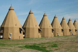 The Tee Pee Motel in Wharton was first built in 1942 and features 10 teepee-shaped rooms.