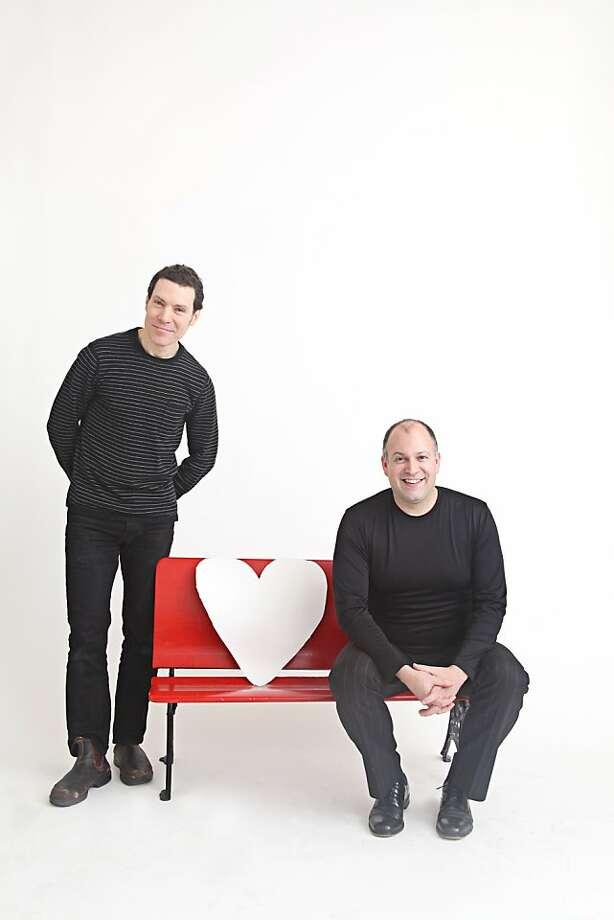 "Composer Jack Perla (l.) and librettist Rob Bailis, creators of ""Love/Hate"" at ODC Theater Photo: Laura Kudritzki"