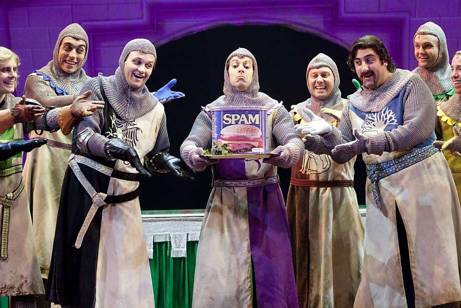 """Knights of the Round Table in the touring company of """"Spamalot"""" returning to the Orpheum Theatre Photo: Scott Suchman"""