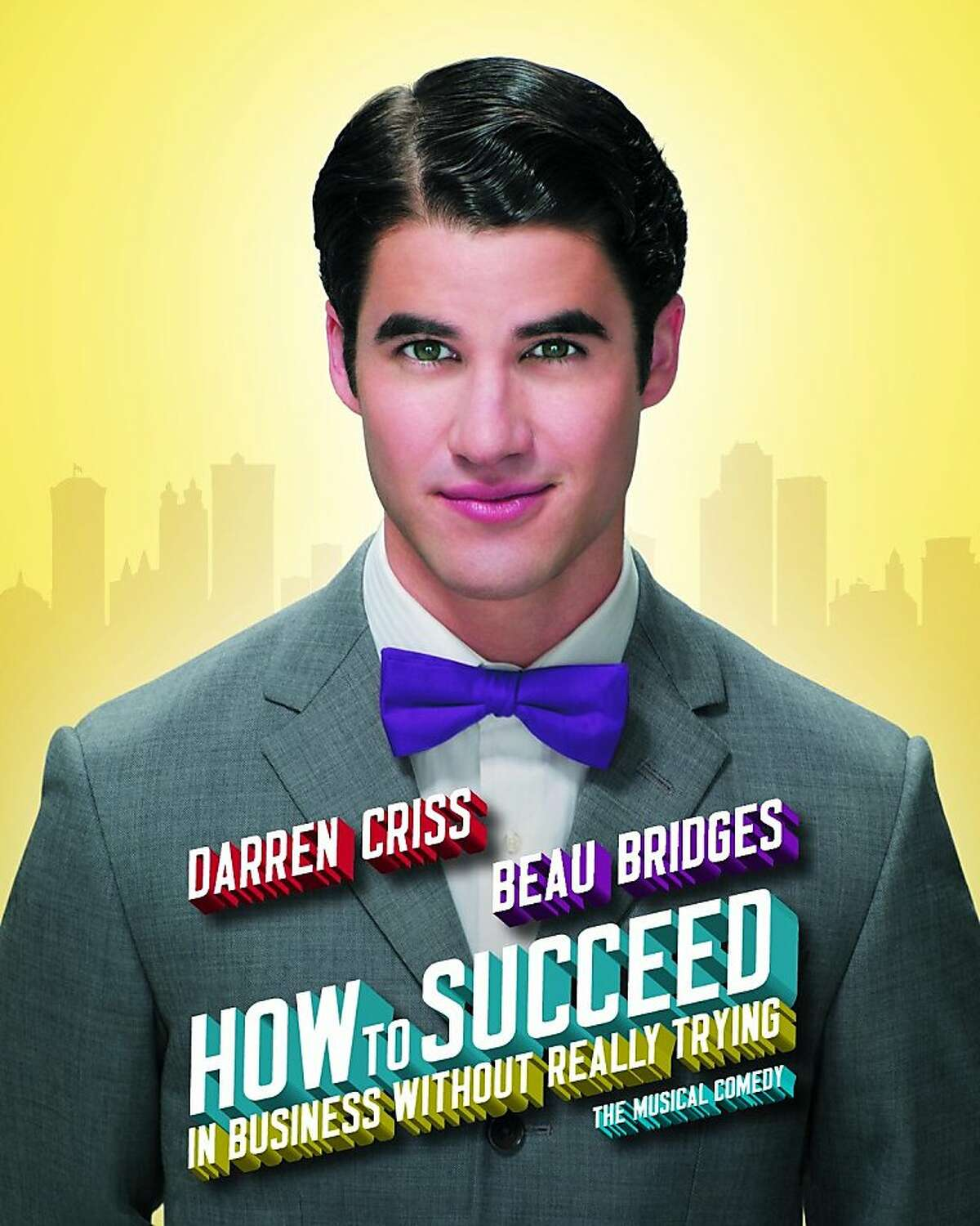 """Darren Criss in a publicity shot for """"How to Succeed in Business Without Really Trying"""""""
