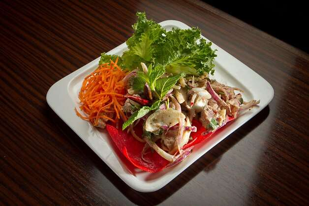 The Ahi Tuna Larb at Kacha Thai Bistro in Walnut Creek, Calif., is seen on Friday April 7th, 2012. Photo: John Storey
