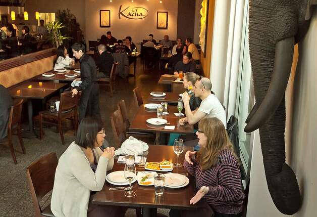 Diners enjoy dinner at Kacha Thai Bistro in Walnut Creek, Calif., on Friday April 7th, 2012. Photo: John Storey