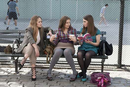 "Jemima Kirke, Lena Dunham, Zosia Mamet in HBO's ""Girls."" Photo: Jojo Whilden, HBO"