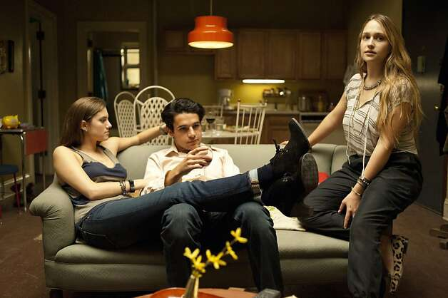 GIRLS: Allison Williams, Chris Abbott, Jemima Kirke. Photo: Jojo Whilden, HBO
