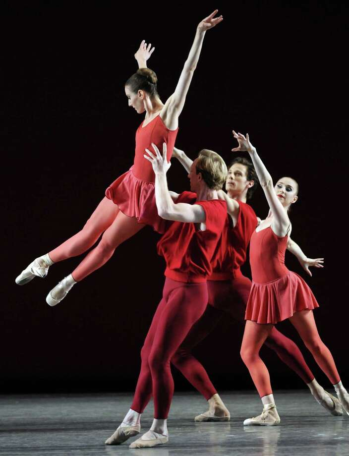 "Members of the New York City Ballet perform the Peter Martins piece ""Fearful Symmetries"" to open the 2011 season at SPAC in Saratoga Springs, N.Y.  ( Michael P. Farrell/Times Union archive ) Photo: Michael P. Farrell / 00013792A"
