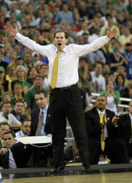 Baylor will be without coach Scott Drew for two Big 12 games next season. Photo: Nick De La Torre / Houston Chronicle