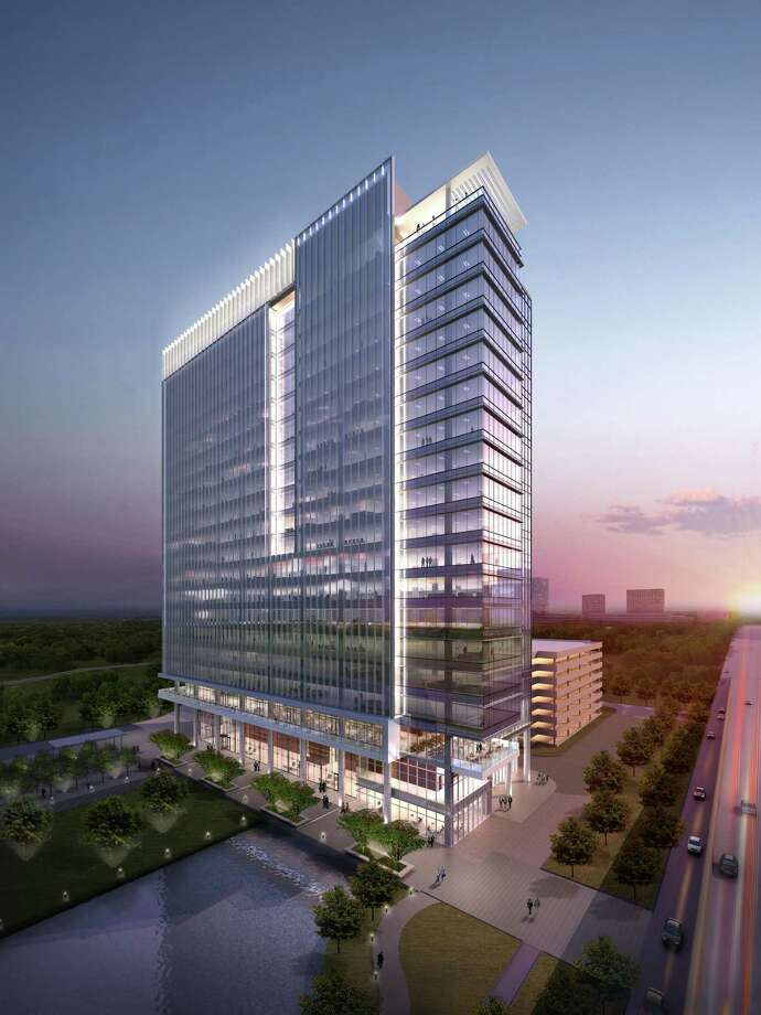 Trammell Crow and Principal Real Estate Investors are having this 20-story tower, shown in a rendering, built on a speculative basis. Photo: Kirksey Architects