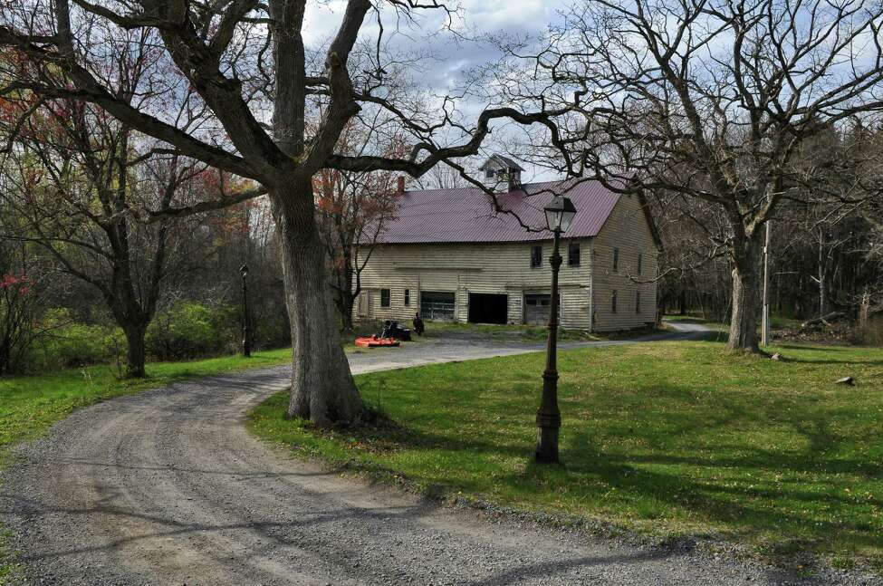 View of the barn on the property where Gilbert M. Tucker Jr. lived after he survived the sinking of the Titanic on April 15, 1912, seen here on Tuesday April 10, 2012 in Glenmont, NY. (Philip Kamrass / Times Union )