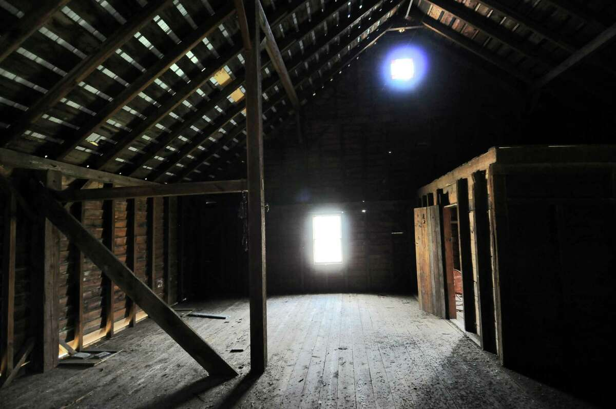 View inside of the barn on the property where Gilbert M. Tucker Jr. lived after he survived the sinking of the Titanic on April 15, 1912, seen here on Tuesday April 10, 2012 in Glenmont, NY. (Philip Kamrass / Times Union )