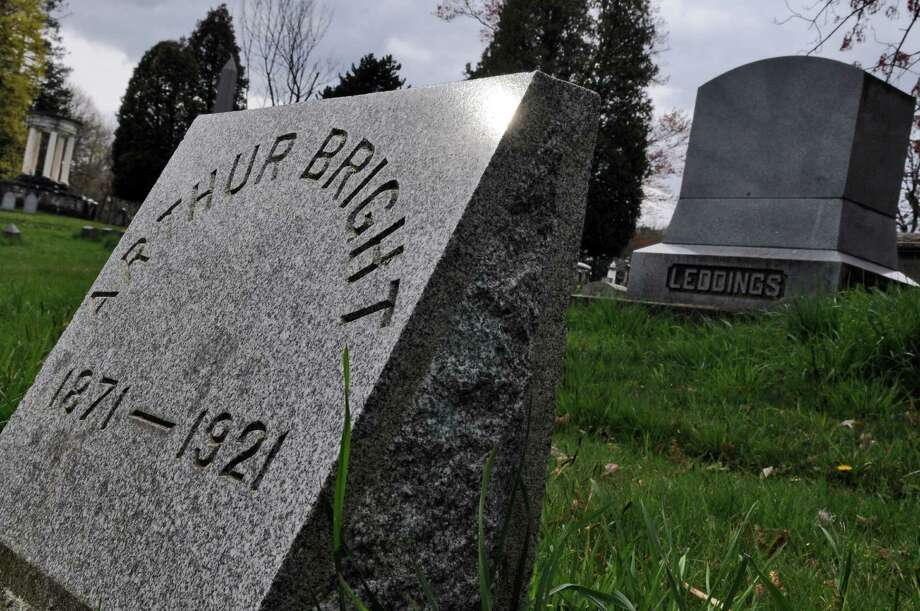 Arthur Bright's marker at the Albany Rural Cemetery in Menands. Questions have been raised as to whether he was a survivor of the Titanic. (Philip Kamrass / Times Union ) Photo: Philip Kamrass / 00017176A