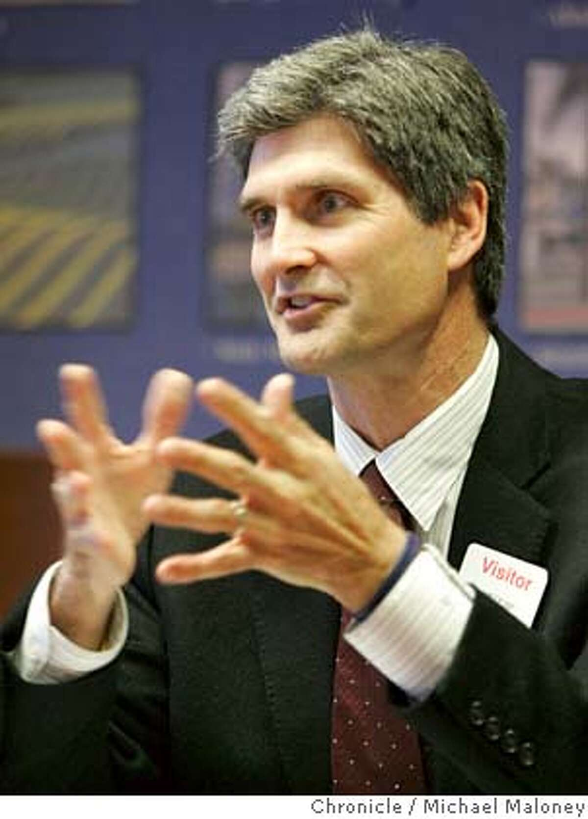 Carl Guardino, president and CEO of the Silicon Valley Leadership Group talks with the Chronicle business reporters at the Chronicle offices on Thursday, April 19, 2007. Photo by Michael Maloney / San Francisco Chronicle *** Carl Guardino Ran on: 05-13-2007 Carl Guardino and San Joses then-mayor, Ron Gonzalez (left), appear at a 2005 legislative meeting in Sacramento. Guardino and legislators often discuss the Silicon Valley Leadership Groups agenda. Ran on: 05-30-2007 Carl Guardino MANDATORY CREDIT FOR PHOTOG AND SF CHRONICLE/NO SALES-MAGS OUT