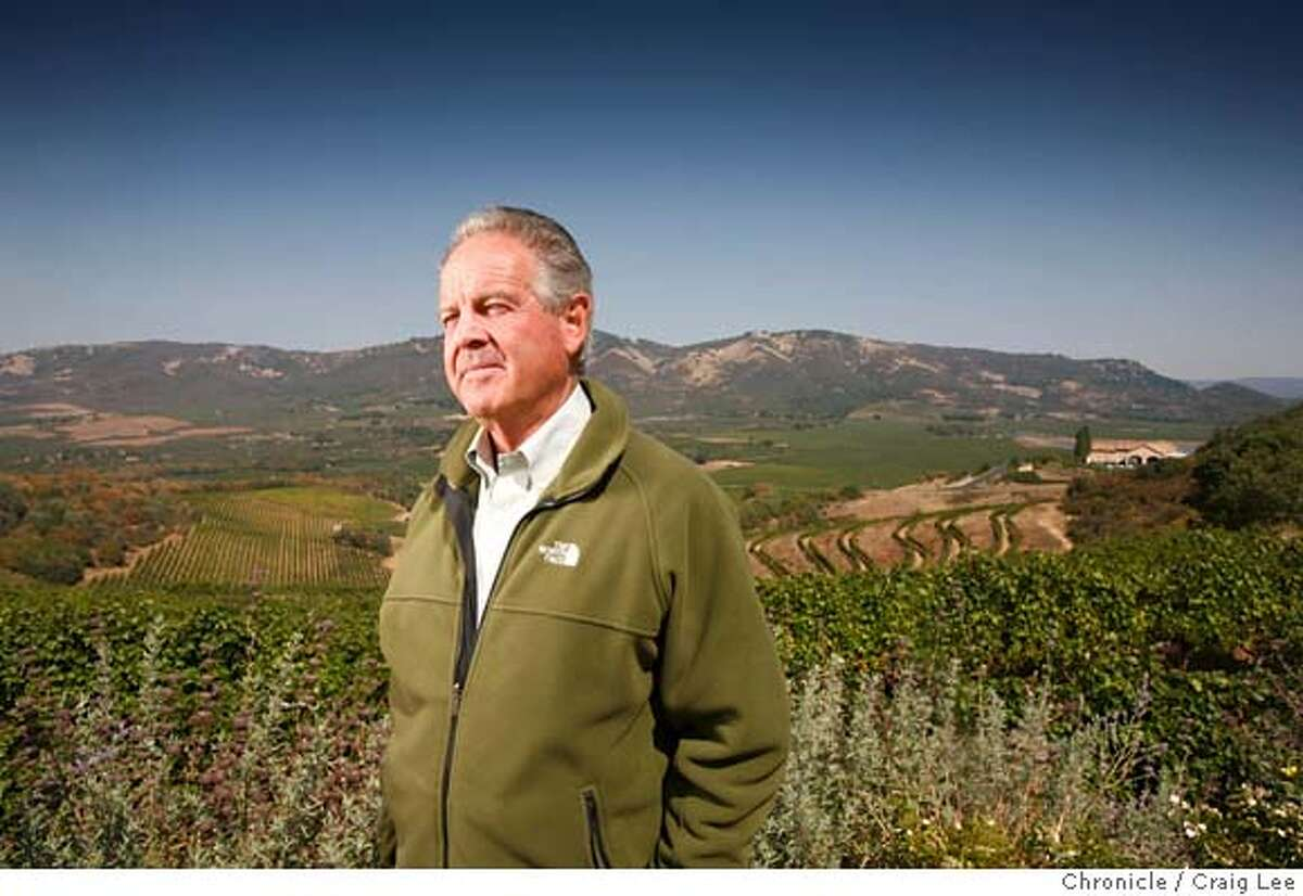 ANTINORI05_144_cl.JPG Marchese Piero Antinori, winery owner from Tuscany, Italy, who owns Antinori California, A Napa Valley Wine Estate. Story on his new property on Atlas Peak and his new project in Napa, Antica. Photo of Marchese Piero Antinori with his vineyards behind him. on 9/12/07 in Napa. photo by Craig Lee / The Chronicle MANDATORY CREDIT FOR PHOTOG AND SF CHRONICLE/NO SALES-MAGS OUT