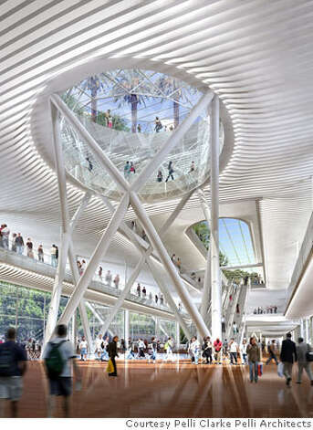 interior of proposed transbay tower for bus terminal by Pelli Clark Photo: Handout