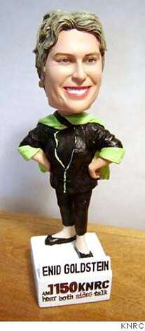 Enid Goldstein. The former KGO talk show host is a bobblehead doll. (when she was at KNRC in Denver it was a pormotion.) Photo: KNRC