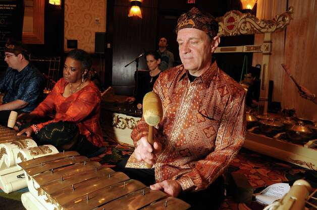 Chuck Roast and other members Space City Gamelan performed. Photo: Dave Rossman / © 2012 Dave Rossman