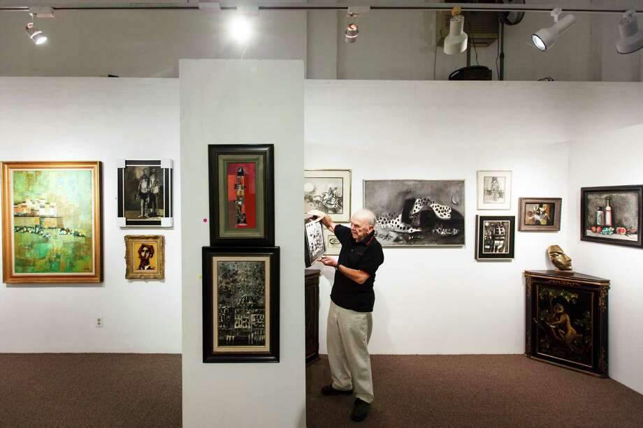 David Adickes stands in the Adickes Art Foundation Museum, Wednesday, April 11, 2012, in Huntsville. Photo: Michael Paulsen, Houston Chronicle / © 2012 Houston Chronicle