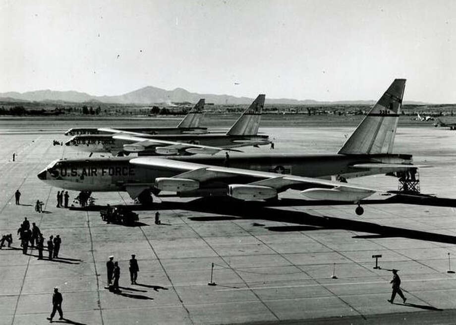 On Jan. 18, 1957, three U.S. Air Force B-52s set an around-the-world non-stop record of 45 hours and 19 minutes. Photo: The Boeing Co.